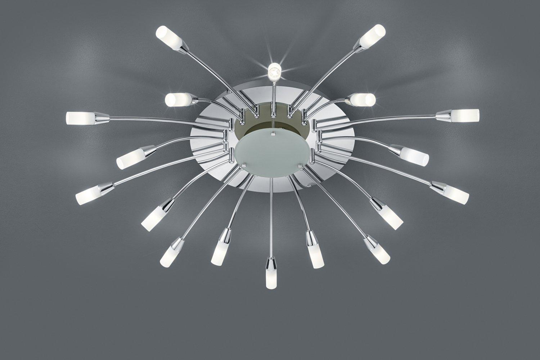 Trio LED-Deckenleuchte UMBRELLA,ink.18x1W LEDs, mit Fernbedienung Ø ...
