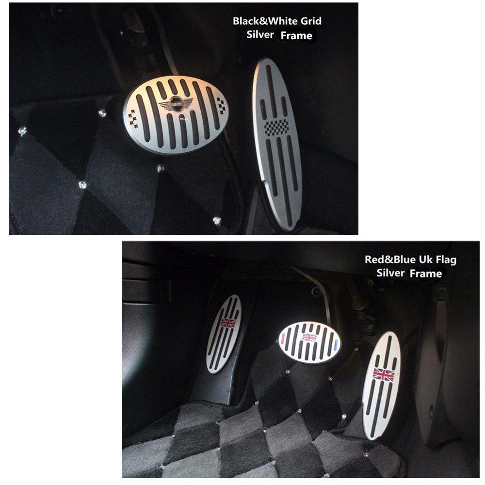 3 pc antideslizante Chrome Freno acelerador Pedal Cubierta de Vinilo pegatinas (para modelos de transmisión automática): Amazon.es: Coche y moto