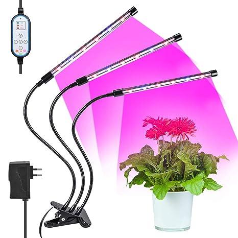 Lámpara LED para el cultivo de las plantas, 36w Luces led cultivo con cuello giratorio