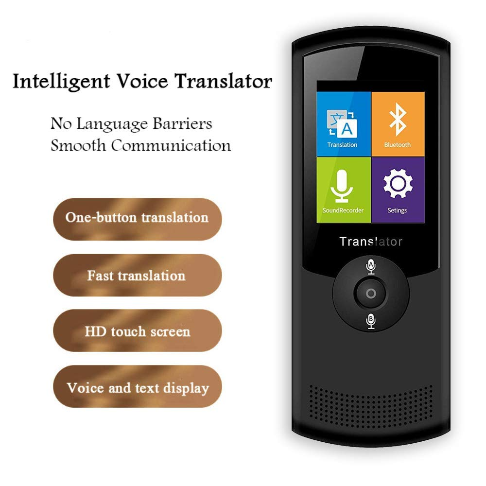 Smart Voice Translator Device with 2.4 Inch Touch Screen 4G WiFi Two Way Real Time Instant Language Translator Support 42 Languages for Learning Travel Shopping Business