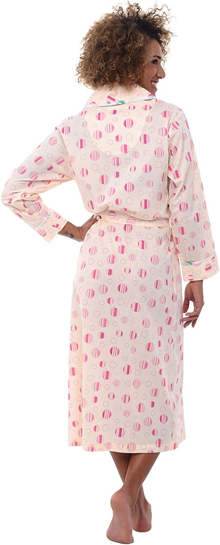 Summer Bathrobe Alexander Del Rossa Womens Lightweight Cotton Kimono Robe