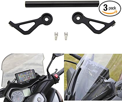 QIDIAN Motorcycle Multifunction Crossbar Phone GPS Navigaton Plate Bracket Holder Stand Black for Yamaha Xmax X-MAX 125 250 300 Aluminum Modified Accessories