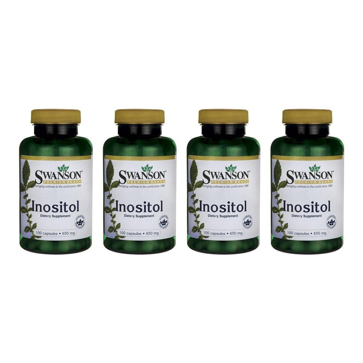 Swanson Inositol 650 mg 100 Caps 4 Pack