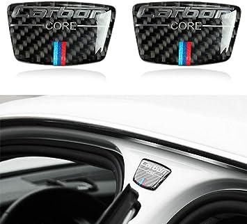 Blizim 2 Piezas Coche Pegatina Fibra de Carbon Columna B Decoración para BMW: Amazon.es: Coche y moto