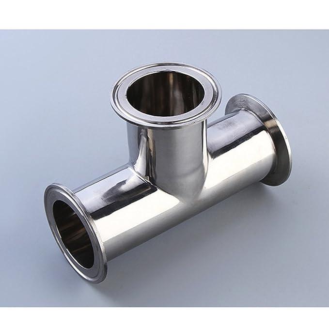 Tee 3-Way Tee Sanitary Ferrule Pipe Fittings Pipe OD 19//25//32//38//45//51//57mm