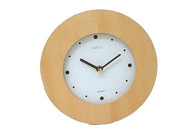 0 www.working-house.com (Decoración / Relojes) Reloj Pared Redondo Madera Color Madera PEQUEÑO: Amazon.es: Hogar