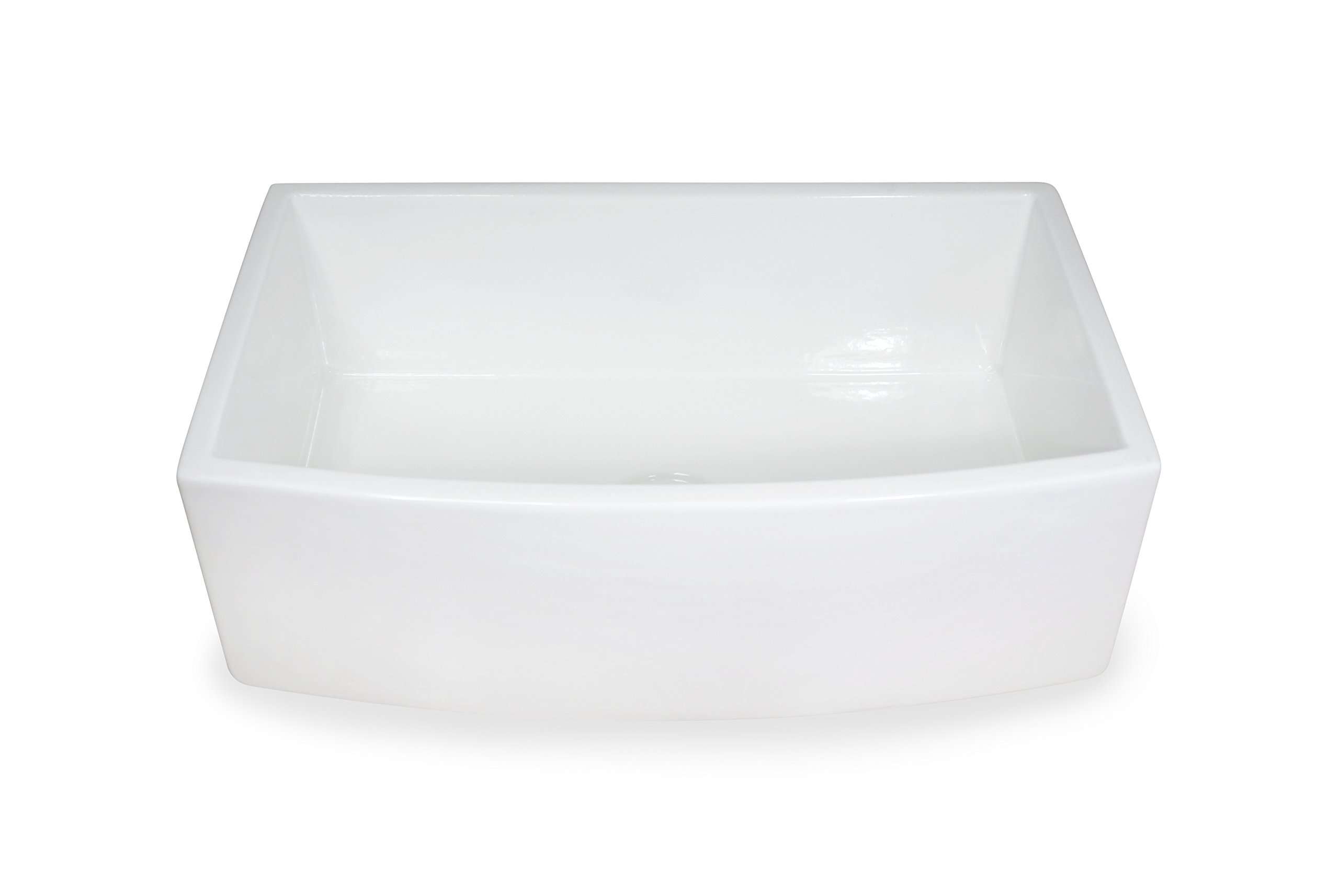 Regallo TRUE FIRECLAY Reversible 30'' Apron Front Sink by MOCCOA, Farmhouse Kitchen Sink White … by MOCCOA (Image #2)