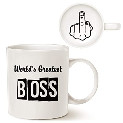 The office coffee mug Pam Funny Best Boss Office Coffee Mug Christmas Gifts Worlds Greatest Boss With Middle Finger On Gajitz Amazoncom Funny Best Boss Office Coffee Mug Christmas Gifts