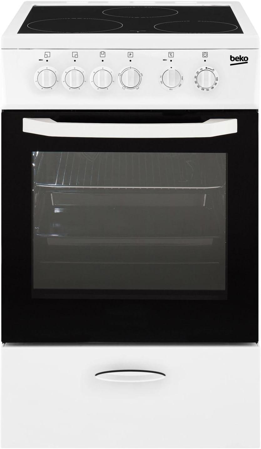 Beko CSS 48100 GW Independiente hob B - Cocción Convencional (Independiente, Botones, Giratorio, Frente, Metal, Esmalte) Color Blanco: 282.67: Amazon.es: Grandes electrodomésticos
