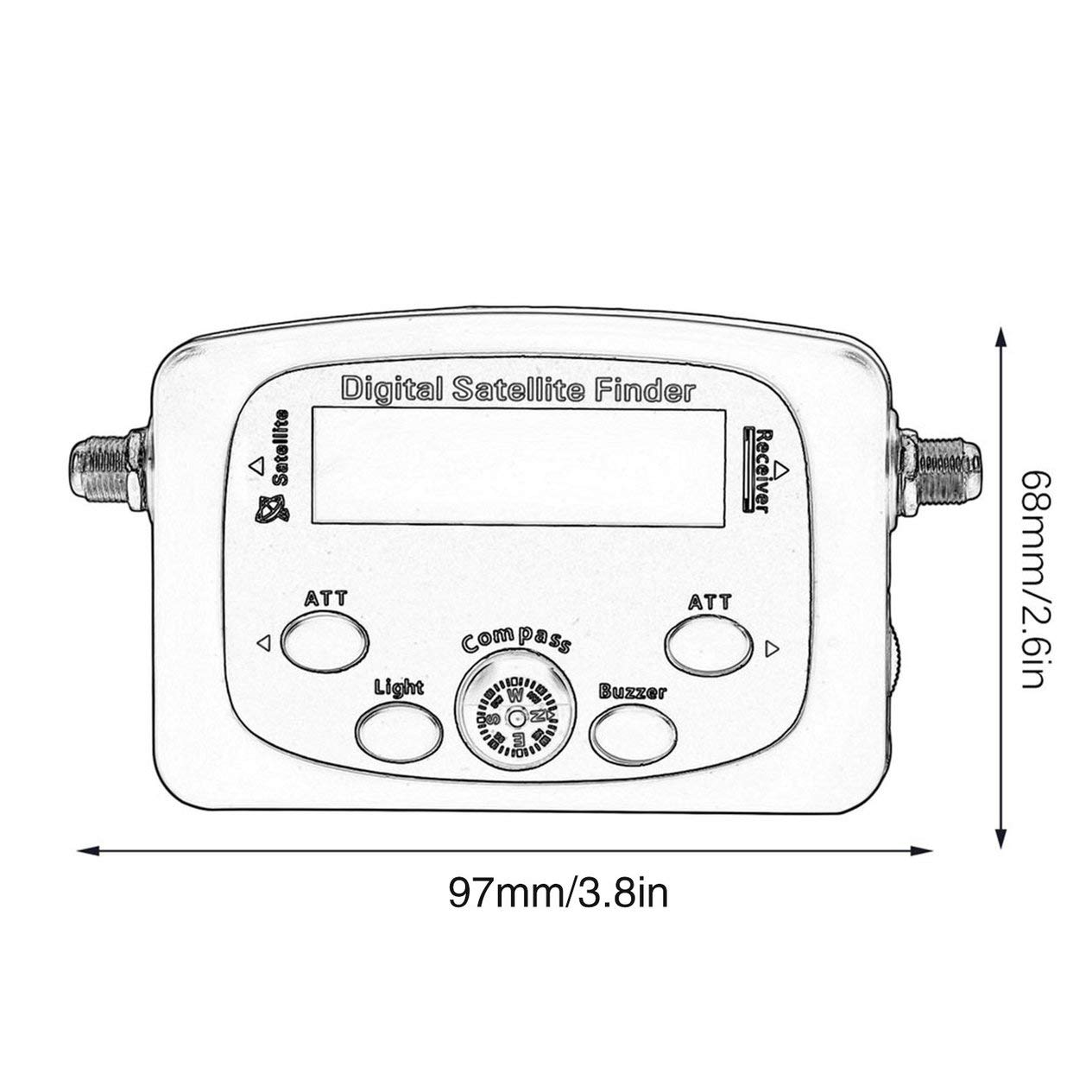 Portable JS-SF06 Digital LCD Satellite Finder Signal Strength Meter Satellite Signal Searcher TV Satellite Detector Tool