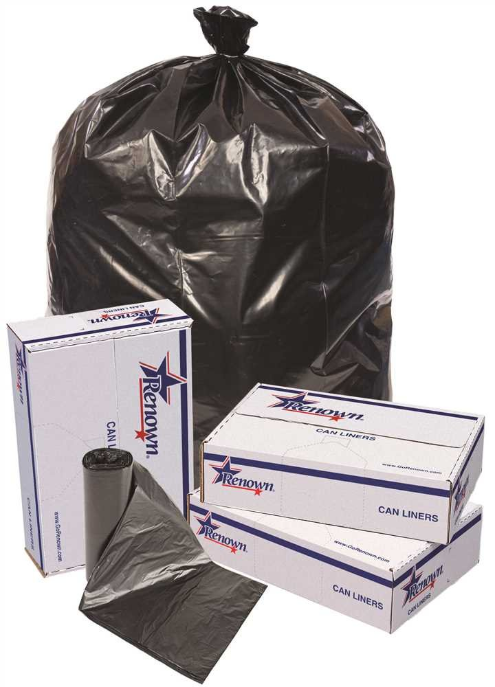 RENOWN GIDDS-2478864 Renown Trash Can Liners, Black, 38 x 58, 1.2ml, 10 Liners Per Roll, 10 Rolls Per Case