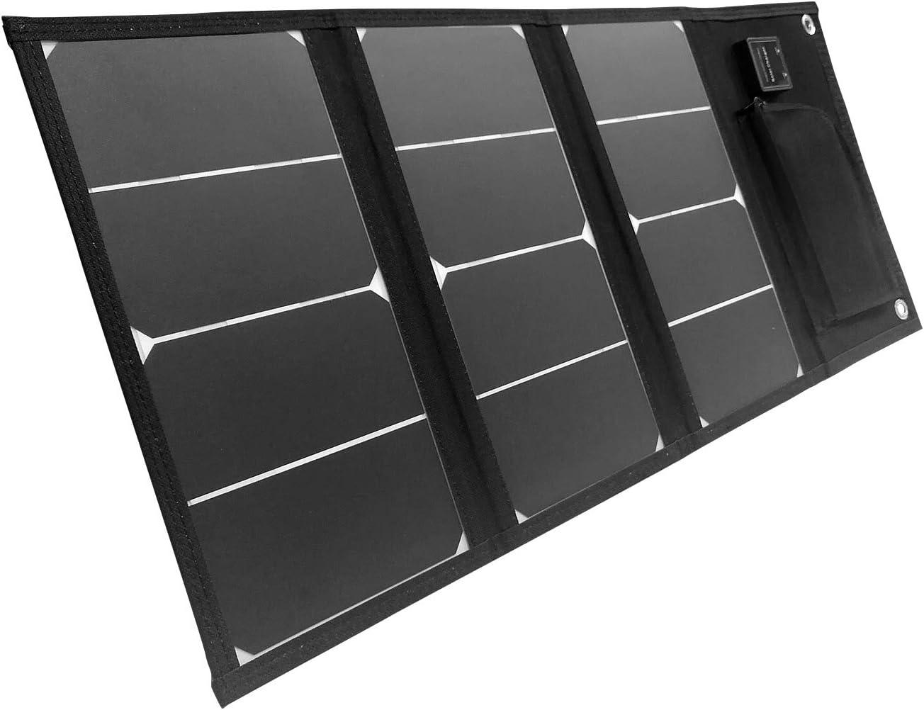 Panel Solar Plegable y portátil con 2 Puertos USB 20W