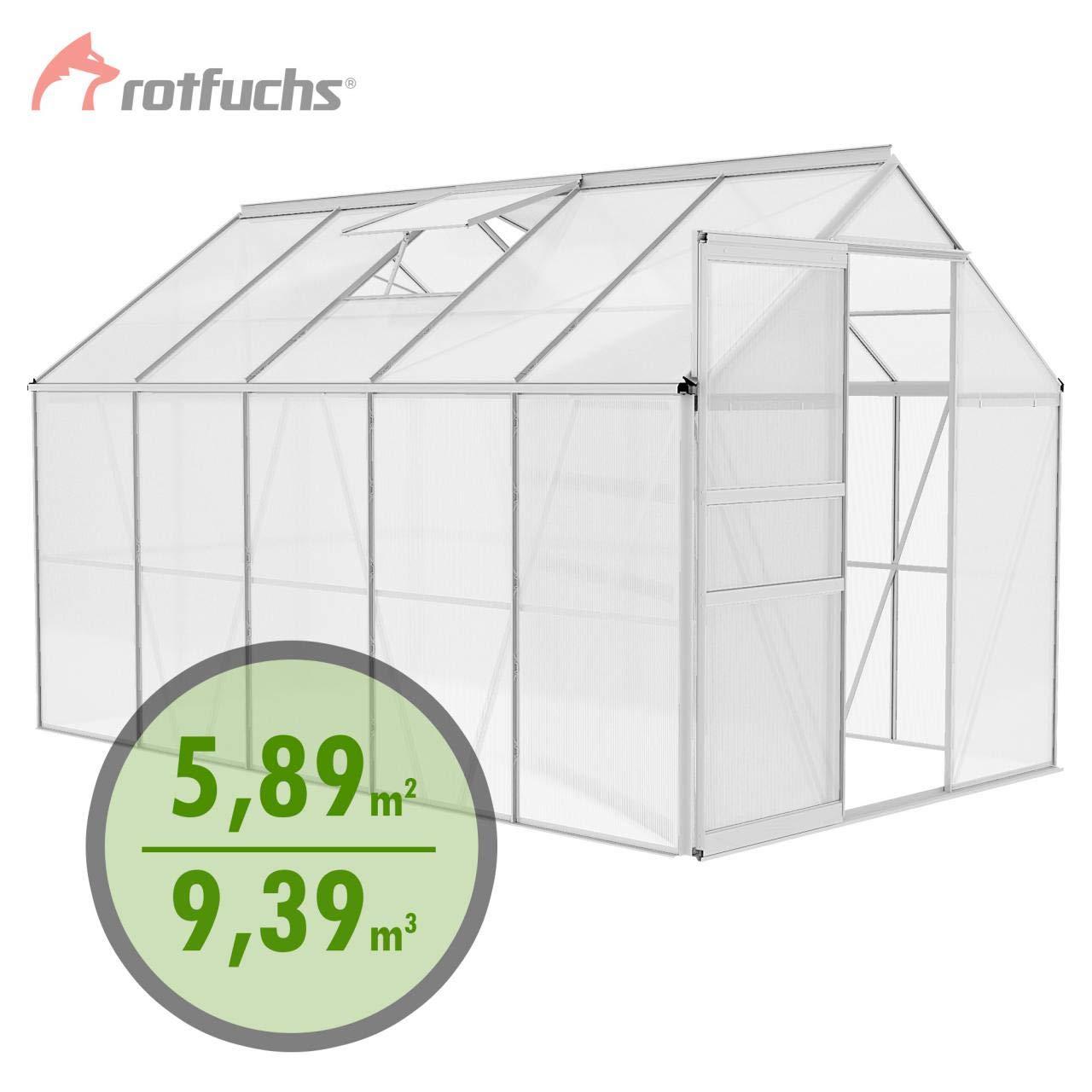 Rotfuchs Gewächshaus Treibhaus Alu Gewächshaus Tomatenhaus Pflanzenhaus 9,39 m³