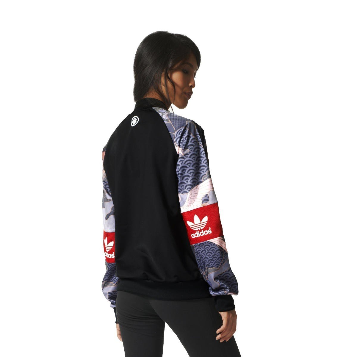 adidas Originals Kimono da Donna con Cappuccio Black 68