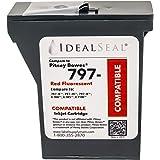 ANSAR Red Ink Cartridge Compatible Replacement for PB k7mo, mailstation2, 797, k7m0, k700 Ink Cartridge, Mailstation 2 Ink