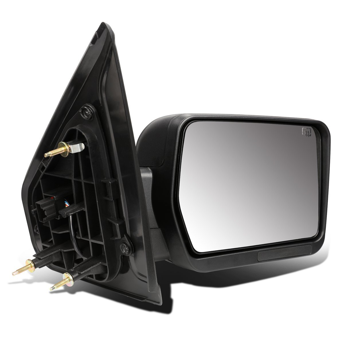 DNA motoring TWM-019-T111-BK-R Towing Side Mirror Assembly, Right Side Only
