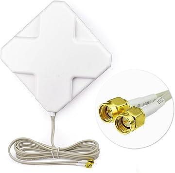 Eightwood 4G LTE Antena SMA Macho 35dbi Antena repetidor de ...
