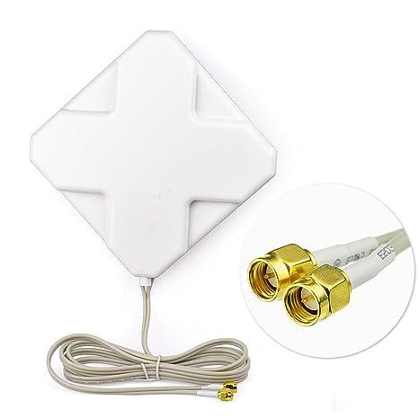 Eightwood 4G LTE Antena 35dbi SMA Conector Macho Omni Antena Amplificadora de Señal Direccional con 2m