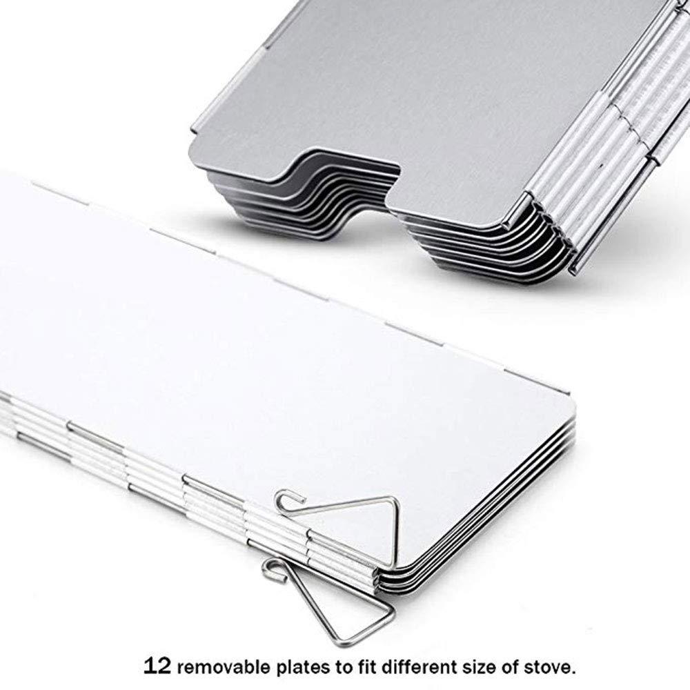 Compact Plegable para el Senderismo CAFFER a Utilizar con y Otros sartenes de Senderismo 10/Placas de Parabrisas de aleaci/ón de Aluminio con Caja de Transporte Senderismo