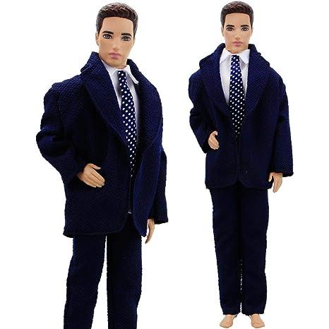 Amazon.com: Ropa de corbata para hombre, color azul oscuro ...