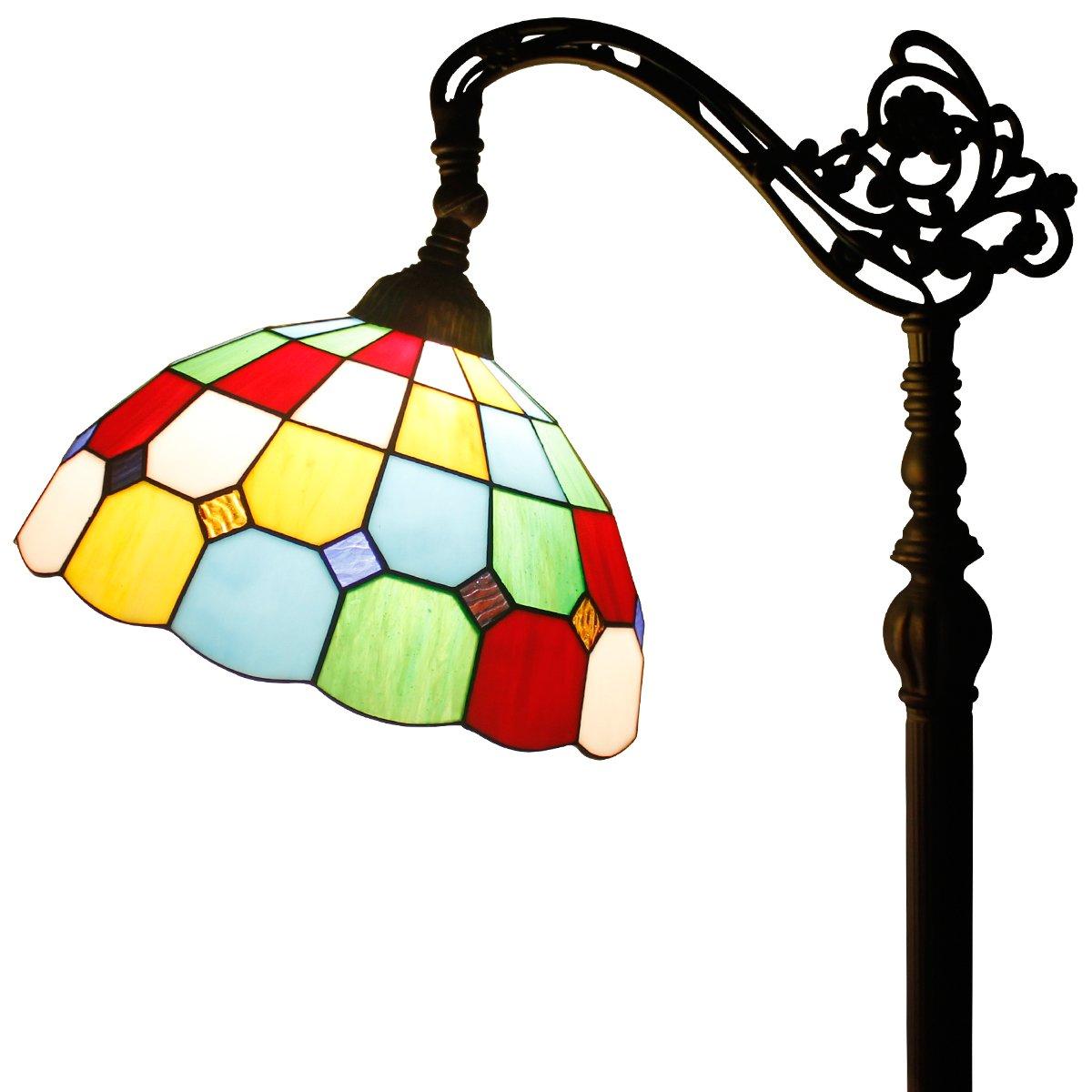 Tiffany Style Reading Floor Lamp Table Desk Lighting Tartan Design W12H64 E26 by werfactory (Image #1)