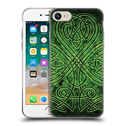 Official Brigid Ashwood Irish Shamrock Celtic Wisdom 3 Soft Gel Case Compatible for iPhone 7 / iPhone 8 (Shamrock Phone Case)