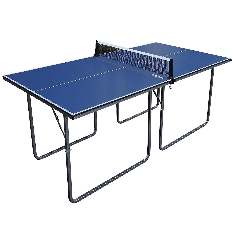 HOMCOM Mesa Ping Pong Plegable 153x76.5x67cm Red Tenis Mesa Exterior Portatil Nuevo