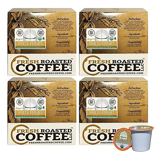 Creamy Knight Light Roast FTO Single-Serve Cups, 72 ct. of Single Serve Capsulesfor Keurig K-Cup Brewers, Fresh Roasted Coffee LLC.