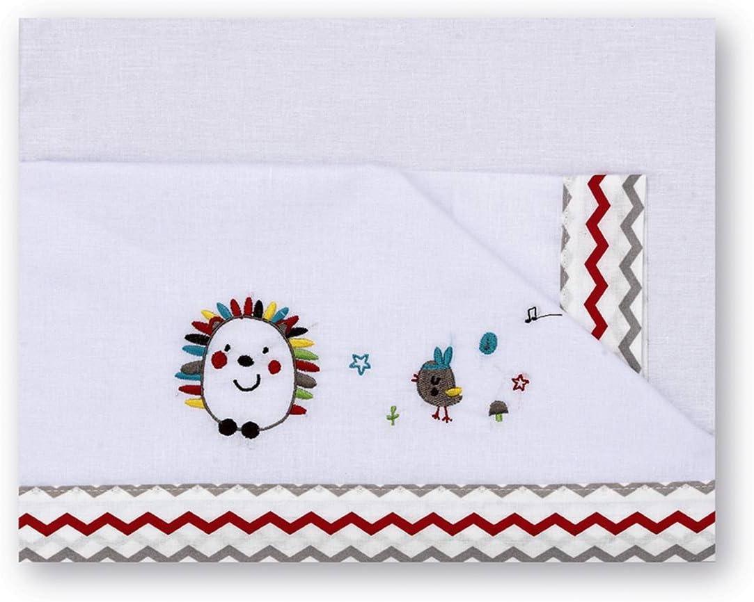 Pirulos 00913510 color blanco y lino Tr/íptico s/ábanas 80 x 140 cm dise/ño espin