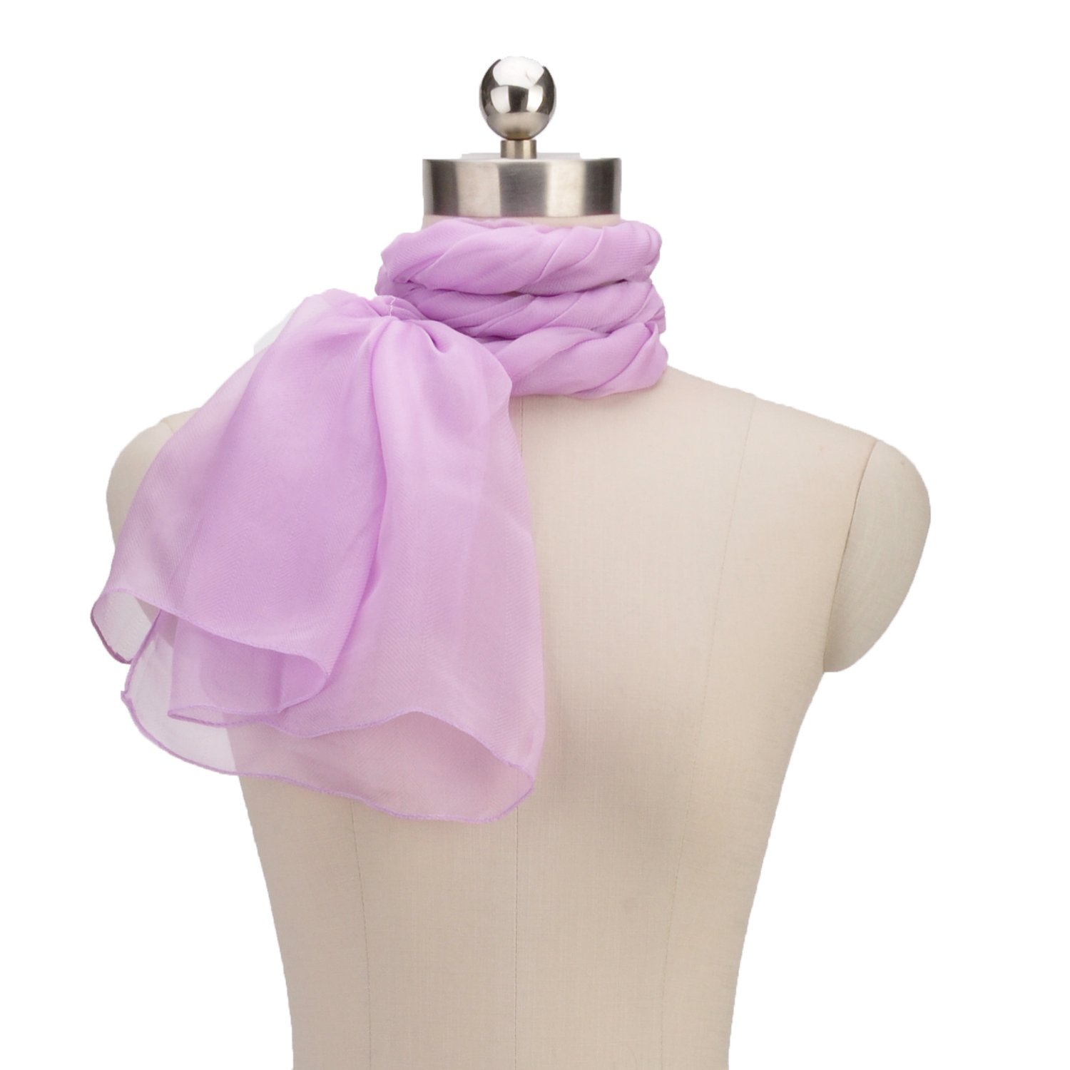 Soft Long Classic Vernal Colored Solid Chevron Scarf Summer Beach Girls