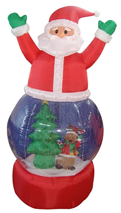 5 inflatable santa claus snow globe lighted christmas outdoor decoration - Amazon Outdoor Lighted Christmas Decorations
