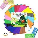 MEARCOOH EVA Craft Foam Sheets Colorful Foam Paper Set Pack of 30pcs(15 Colors,20x20cm,Thickness:2mm) for Craft Projects…