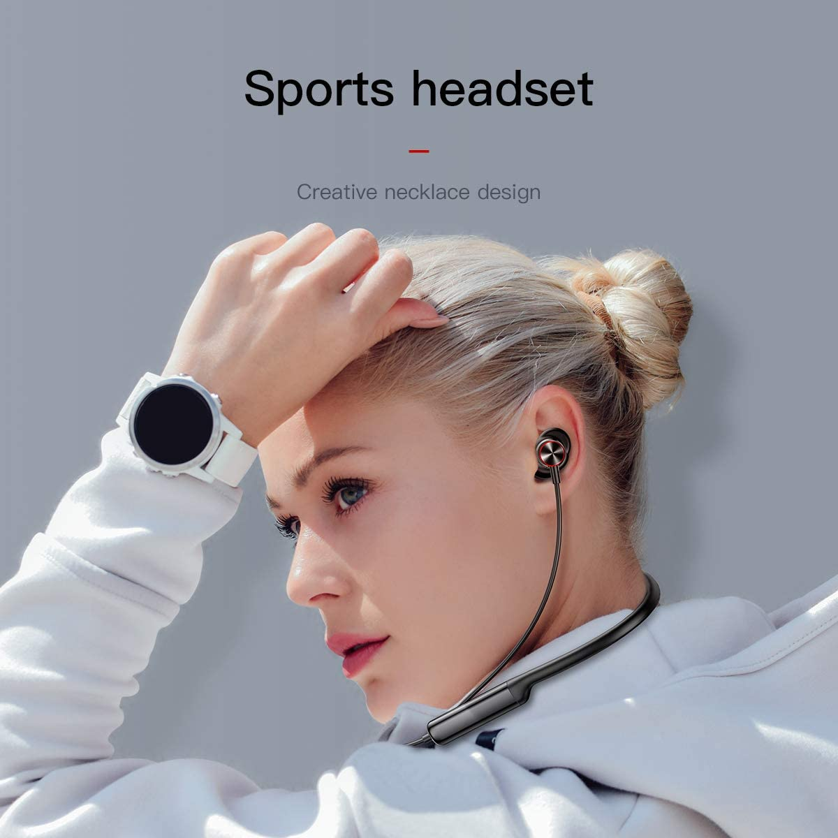 Baseus S12 Bluetooth Earphone Wireless Sport Earphone,Immerse in Music