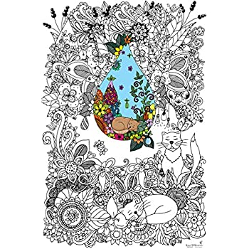 Amazon Com Great2bcolorful Original Big Coloring Poster 24 X 36