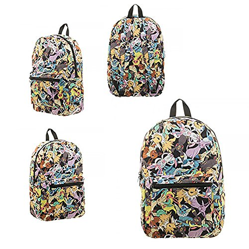 (bioWorld Pokemon Eevee Evolution Toss Print Sublimated Backpack)