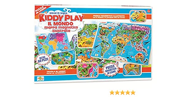 RSTA 9321 – Puzzle Mapa magnético del Mundo, Madera: Amazon.es ...