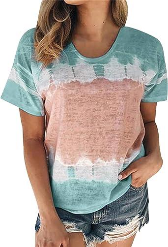 Camiseta Oversize Mujer Talla Grande Camisetas Basicas Mujer Manga Corta Camisas Mujer Camisetas Tunica Anchas Largas de Mujer Tops Camisa Larga Blusas T-Shirt Casual Suelta Ancha Fiesta Deporte: Amazon.es: Ropa y accesorios