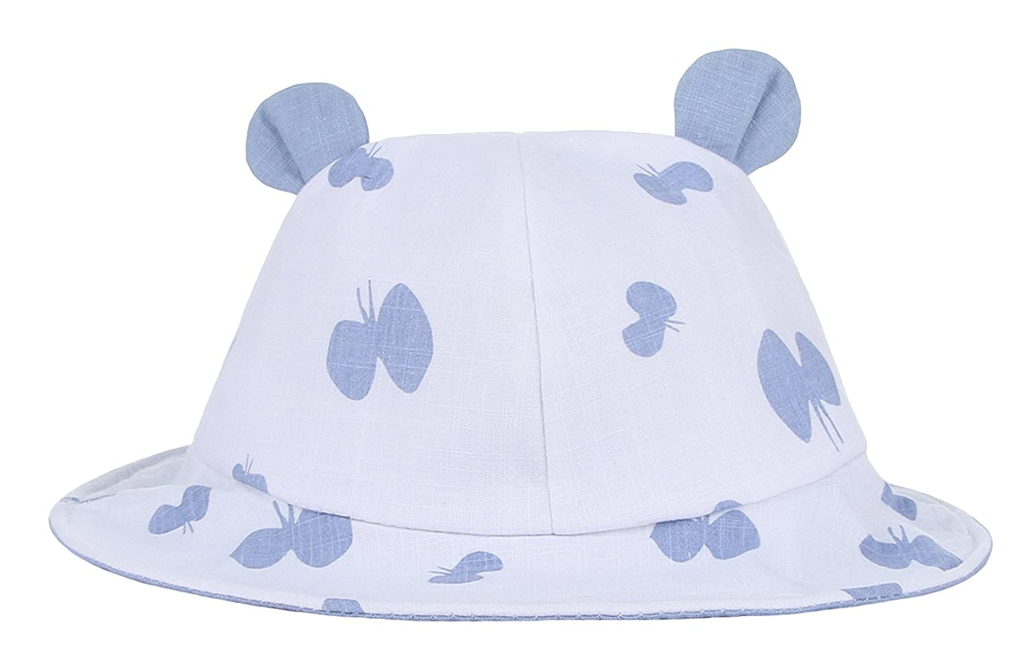 Gemvie Baby Hat Newborn Infants Cotton Bucket Cap Ear Sun Protection Hat