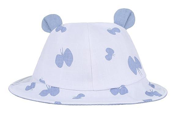 GEMVIE Chapeau Bob Soleil Plage Oreille Lapin Anti-UV Enfant Bébé Fille  Mignon Bleu 39f9db04f31