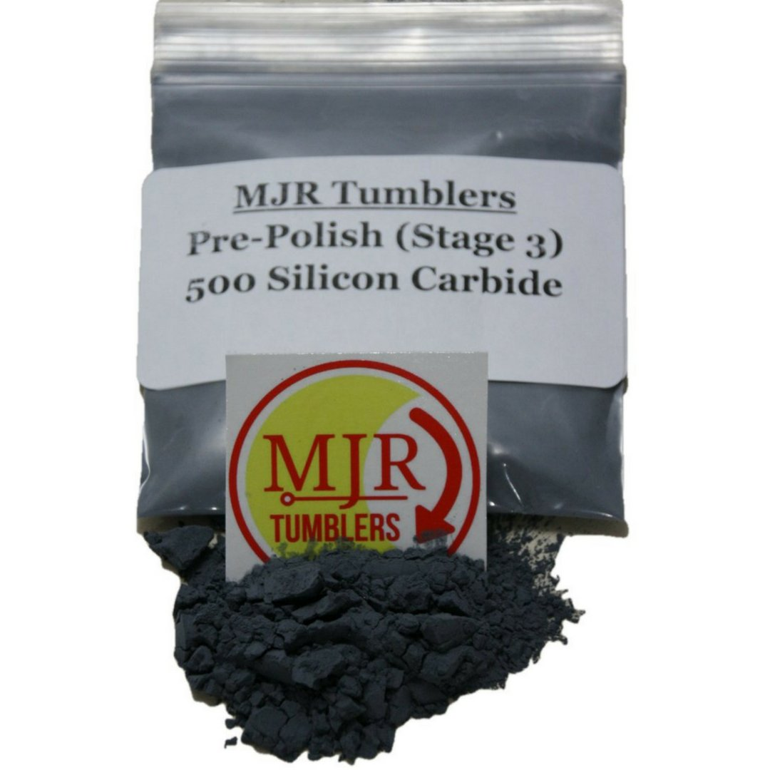 MJR Tumblers 4 lb Silicon Carbide 500 Rock Grit, Pre-Polish