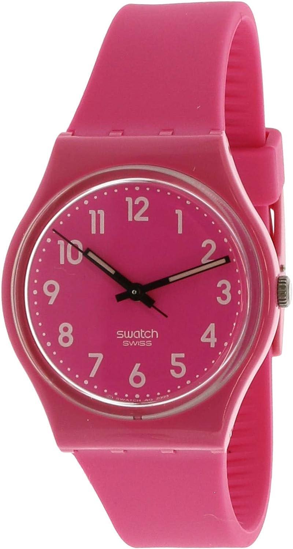 Swatch Women's Dragon Fruit GP128K Pink Plastic Swiss Quartz Fashion Watch