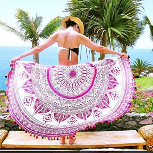 FUA Women Kimono Tunic Beach Cover Up Bikini Swimwear Bathing Suit (C)