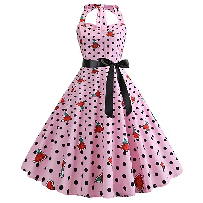 Amazon.com: Botrong 1950s Vestido para mujer, vintage, retro ...