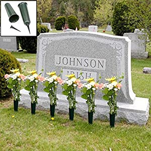 Amazon Com Evelots Set Of 6 Cemetery Grave Patriotic Memorial Veterans Flower Cone Vase 7
