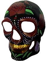 Day of The Dead DOD Sugar Skull Mask Skeleton Head Gold Teeth Costume Accessory