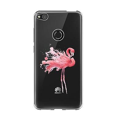 Caler Funda Compatible para Huawei P8 Lite 2017,Carcasa,Ultra Delgado TPU Silicona Transparente Protectora Anti-Arañazos protección Carcasa Cómics ...