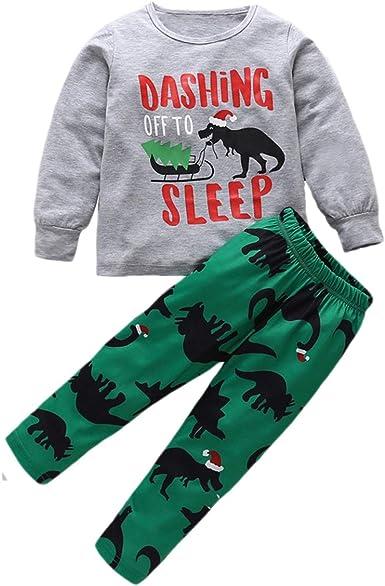 Borlai 2 Piezas Pijamas Unisex para niños Conjunto de Dibujos ...