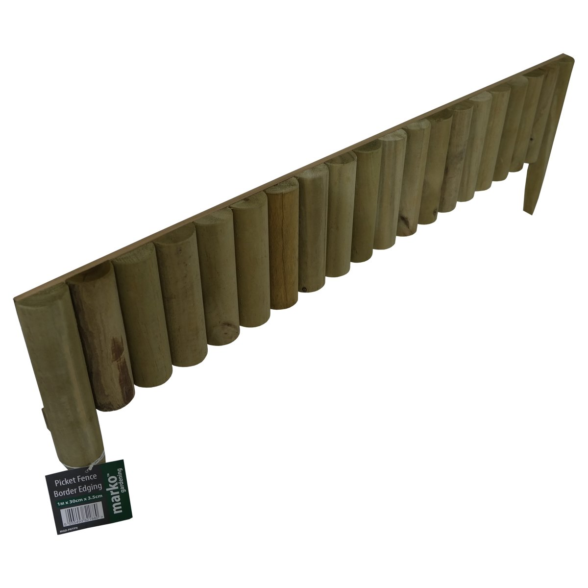 6x 1M Log Roll Border Fixed Picket Fence Edge Garden Outdoor Lawn ...