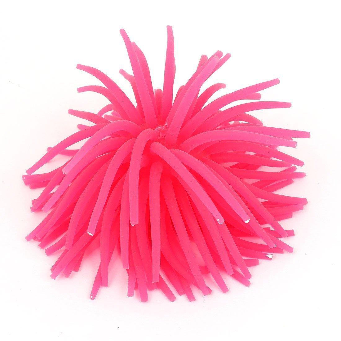 1Pc Soft Silicone Aquarium Fish Tank Manmade Coral Decor 3 Inch High Pink