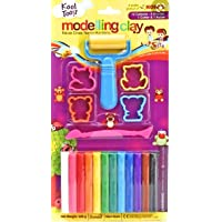 DIKSHA STATIONERY MART KORES Modelling Clay (12 Colour with 4 Moulds, 1 Roller and 1 Clay Cutter)